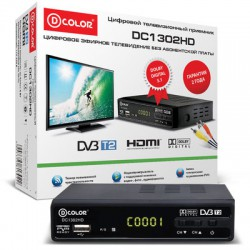 .Цифровой ТВ приемник D-color  DC1302HD